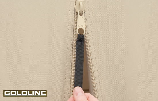 Extended pulls make zipper use simple - even in cold weather.