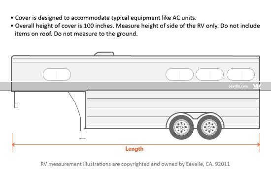 Goldline Horse Trailer Cover Measurement Guide