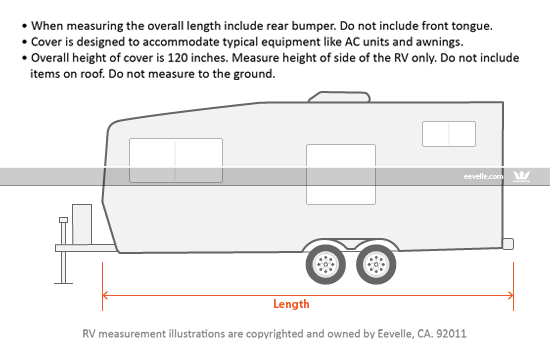 Goldline Toy Hauler Trailer Cover Measurement Guide