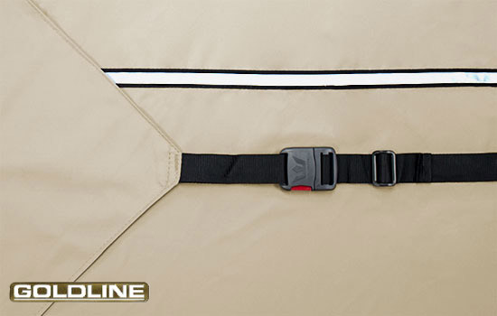 Heavy duty rear tension flags and 2 inch XT strap create custom - like fit.