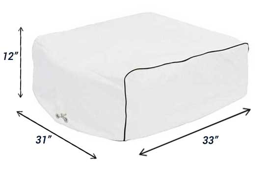 Vinyl Air Conditioner Cover for RVs - Fits Dometic and Duo