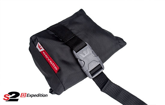 Handy throw pouch. Clip onto strap and throw underneath RV.